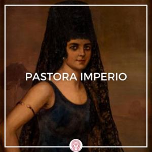 retrato de Pastora Imperio por Julio Romero de Torres