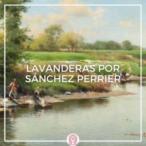 cuadro pintura de lavanderas en Guillena de Emilio Sánchez Perrier